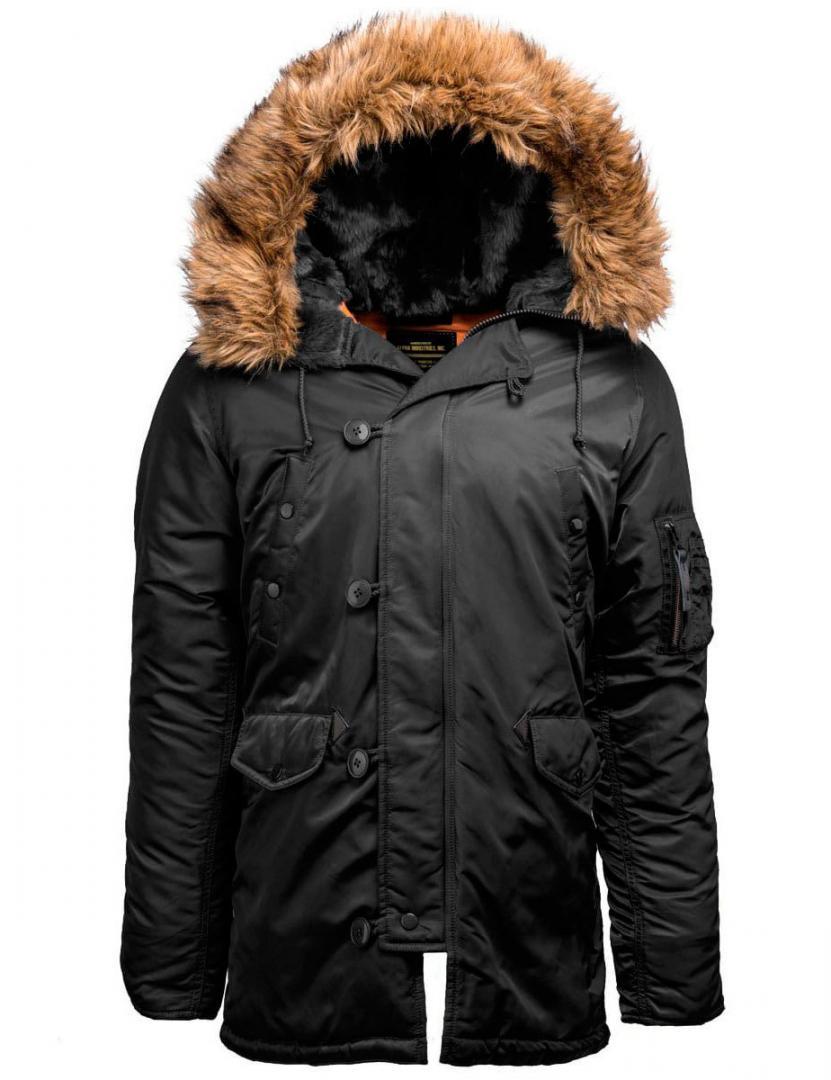 Куртка мужская Аляска Alpha 17-202 Black/Orange 2XL