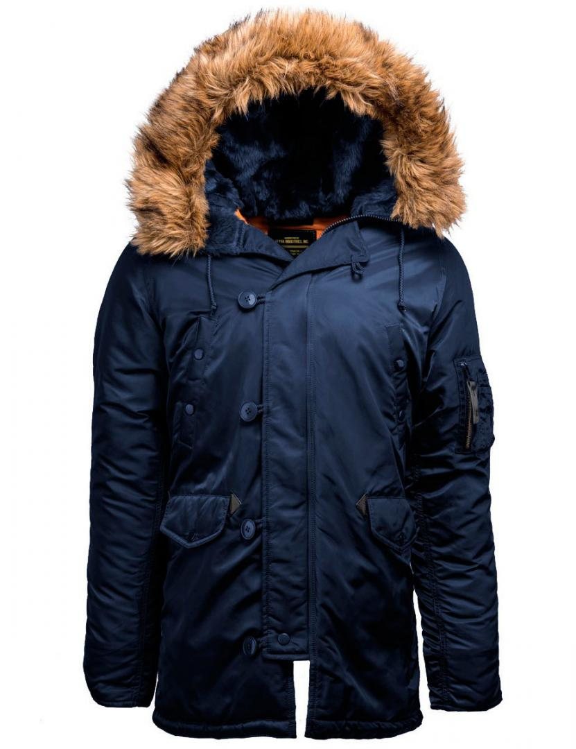 Куртка мужская Аляска Alpha 17-202 Blue/Orange 2XL