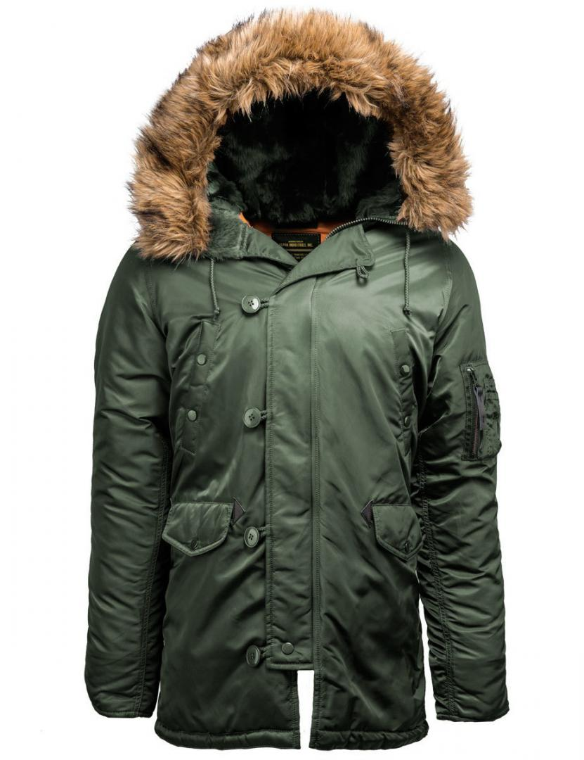Куртка мужская Аляска Alpha 17-202 Khaki/Orange M